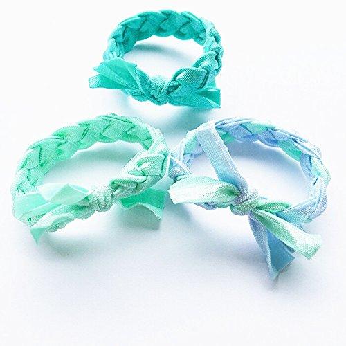 - 2018 mint green handmade twist braid hair band ice cream low elastic hair rope lanyard popular fresh for women girl lady