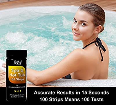 JNW Direct Spa Test Strips for Hot Tubs - 5 in 1, Best Kit for Accurate Water Quality Testing at Home, 100 Strip MEGA Pack