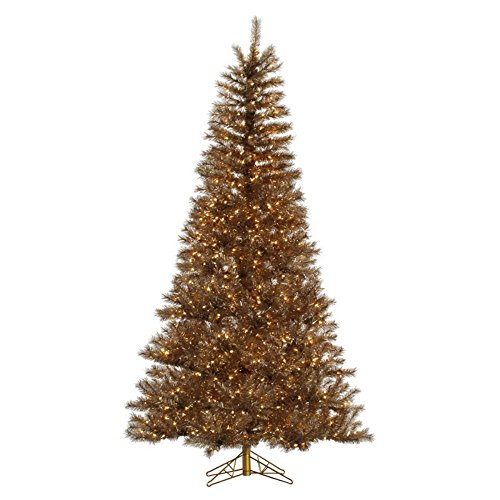 Silver and Gold Tinsel Christmas Tree