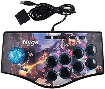 REFURBISHHOUSE Retro Joystick de Usb Del Controlador de Juegos de Arcade Rocker para Ps2 / Ps3 / Pc / Android Smart Tv Vibrador Incorporado Joystick de Ocho Direcciones (No.A): Amazon.es: Videojuegos