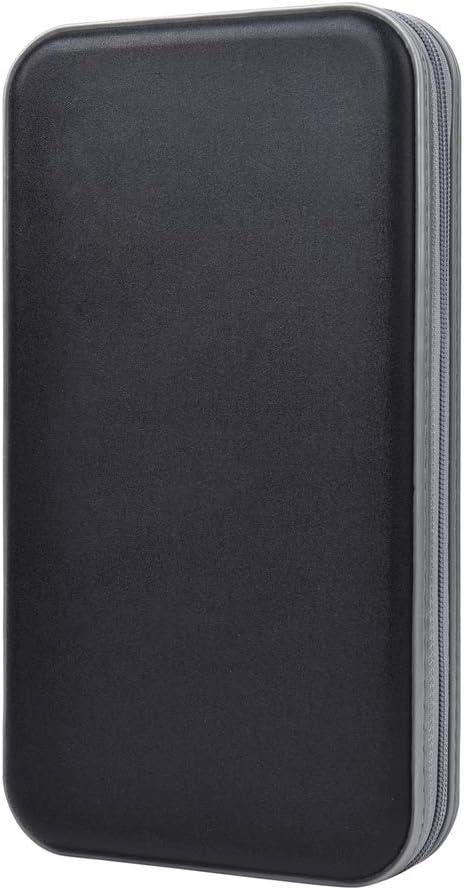 alavisxf xx CD Holder, 72 Capacity CD/DVD Case Holder Portable Wallet Storage Organizer Hard Plastic Protective Storage Holder for Car Travel(72 Capacity, Black 72)