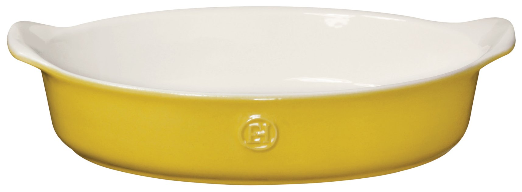Emile Henry 859028 HR Ceramic Small Oval Baker, Leaves