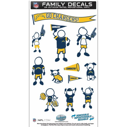 (NFL San Diego Chargers Medium Family Decal Set)