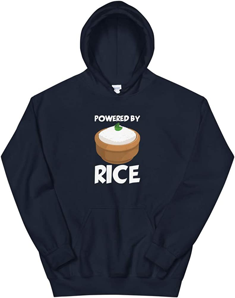 Goofy Carbs Witty Carbs Quotablee Powered by Rice Unisex Hoodie Funny Asian Hoodie Sweatshirt Asian