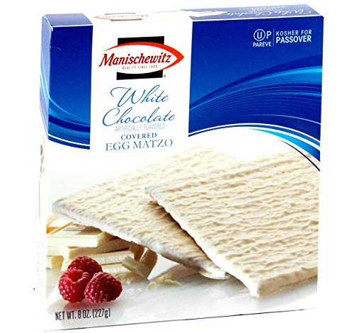 Mansichewitz White Chocolate Coated Egg Matzo - Dairy, Vanilla Fudge Covered, 8 Ounce