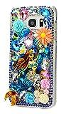 STENES Galaxy J3 Emerge Case - 3D Handmade Luxury Crystal Pretty Mermaid Flowers Sparkle Rhinestone Design Cover Bling Case for Samsung Galaxy J3 Emerge Retro Bows Anti Dust Plug - Colorful