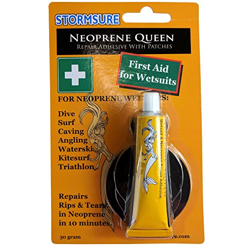 - Stormsure Neoprene Queen Glue Quick fix 1st aid for Wetsuits - Glue + Neoprene Patches