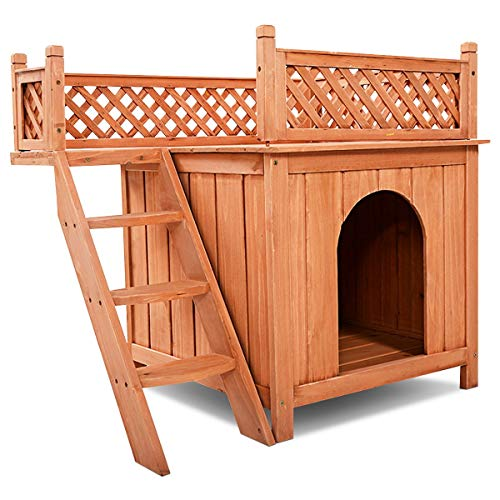 Khaokee Wooden Puppy Pet Dog House