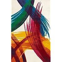Merinos Halı PT002 Makine Halısı, Renkli, 160 cm x 230 cm