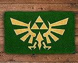"""Pyramid America Zelda Crest Coir Doormat - 29"""" x"""