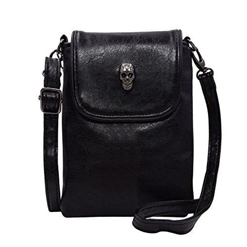 studded skull gothic mini chain crossbody shoulder bag purse ... b9301a228c4fe