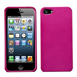 For APPLE iPhone 5/5S Snap On Hard Phone Case Cover Glossy Hot Pink MYBAT