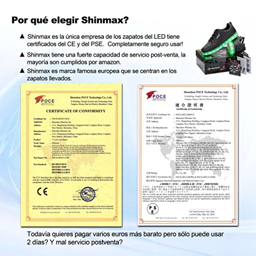 Del Ce Tennis Led Kid estate Colore 7 Con Lanciato Shinmax Da Nuovo Certificato Delle Scarpe Bianca Primavera PzxfwgZq