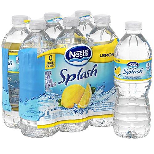 NESTLE SPLASH Water Beverages with Natural Fruit Flavors, Lemon 16.9-ounce plastic bottles, 6 ()