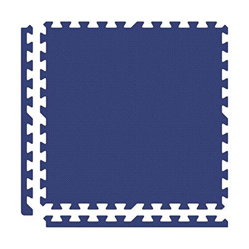 Alessco EVA Foam Rubber Interlocking Premium Soft Floors 30' x 30' Set Royal Blue