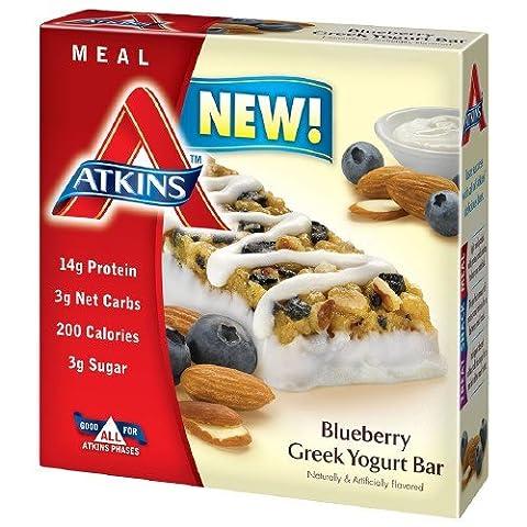 Atkins Meal Bars, Blueberry Greek Yogurt 1.69 oz (Pack of 4) (Pinky Marie)