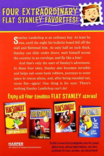The Flat Stanley Collection Box Set: Flat Stanley, Invisible Stanley, Stanley in Space, and Stanley, Flat Again! by Harper Collins (Image #1)