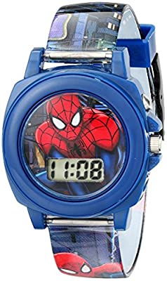 Marvel Ultimate Spider-Man Kids' SPD3423 Multi-Color Watch With Plastic Band by Accutime Watch Corp.