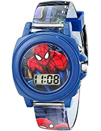 Ultimate Spider-Man Kids' SPD3423 Multi-Color Watch With Plastic Band