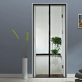 Pull down retractable screen door 32 black exterior for 8 foot retractable screen door
