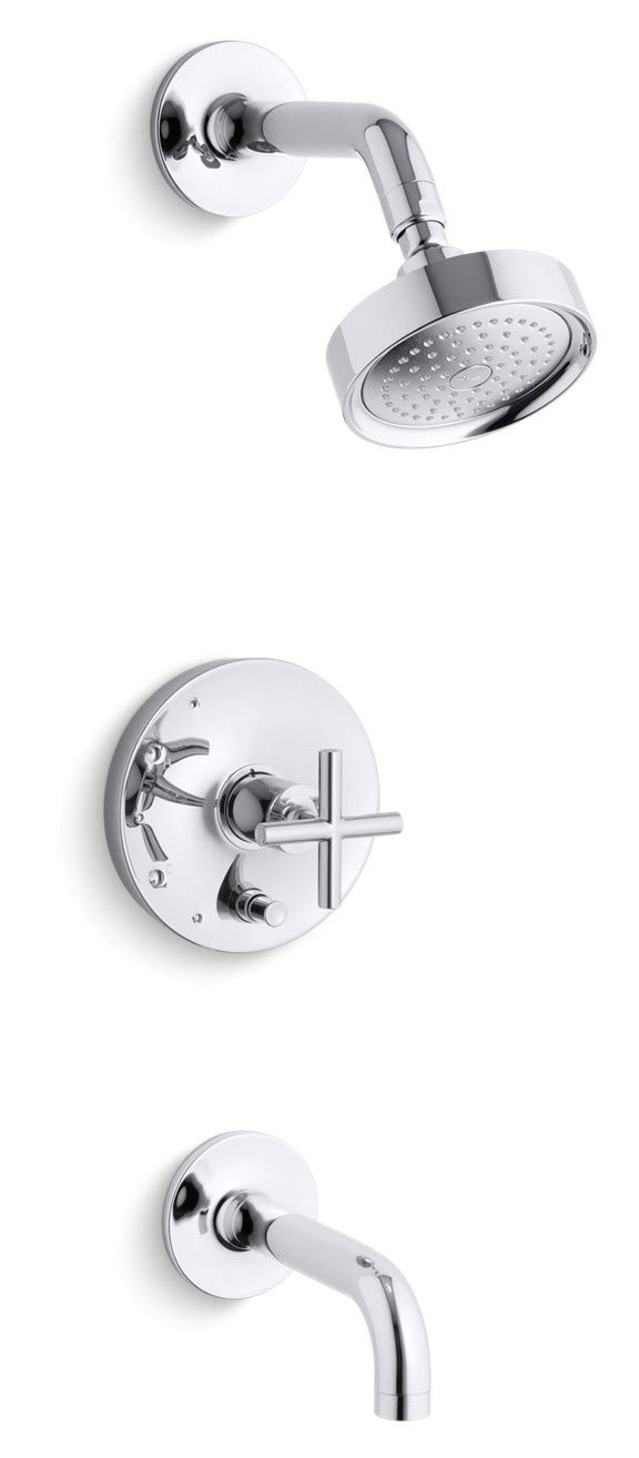 Kohler Purist bath and shower faucet.