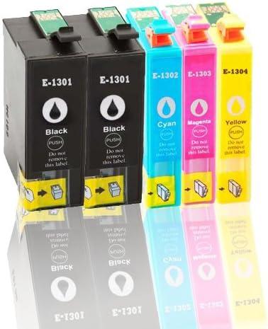 Premium – Pack de 5 cartuchos de tinta para Epson (t1305) T1301 (BK), T1302 (C), T1303 (M), T1304 (y) compatible: Amazon.es: Oficina y papelería