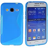 SAMSUNG GALAXY CORE PRIME S-LINE SILICONE GEL IN BLUE COVER CASE AND FREE SCREEN PROTECTOR FROM GADGET BOXX