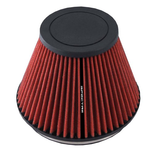 Spectre Performance HPR9606 Universal Clamp-On Air Filter: Round Tapered; 6 in (152 mm) Flange ID; 5.719 in (145 mm) Height; 7.219 in (183 mm) Base; 3.906 in (99 mm) Top