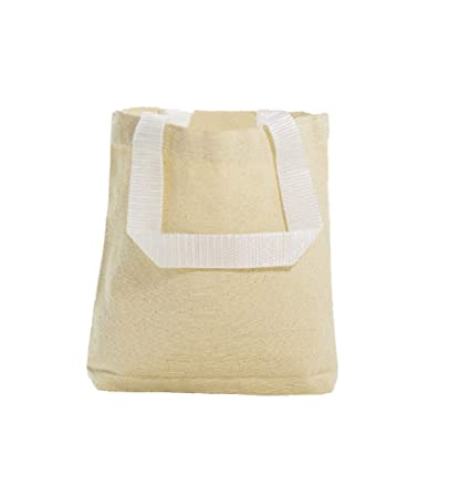 c0ed3bfe48 Image Unavailable. Image not available for. Color  Multipurpose Cotton  Canvas Tote Bags with White Handles (Small
