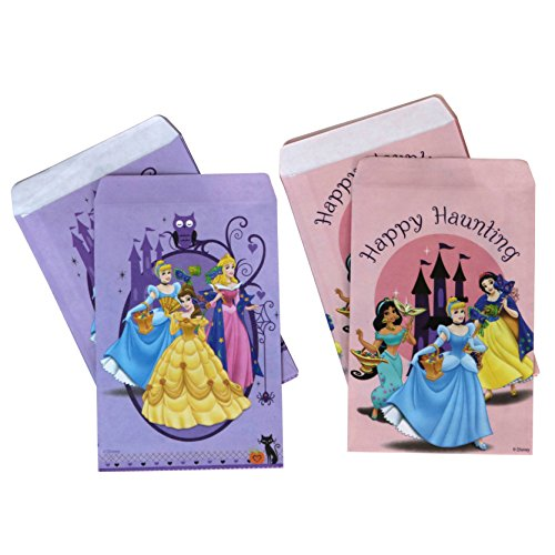 PMG Halloween Paper Favor & Treat Bags, Disney Princesses 120-Count -