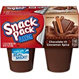 Snack Pack Chocolate with Cinnamon Spice Pudding Cups, 4 Count