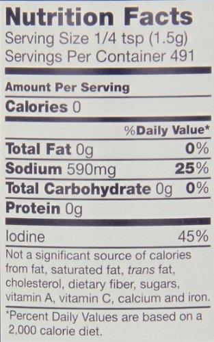 Morton Iodized Salt, 26-Ounce (Pack of 24) by Morton (Image #1)