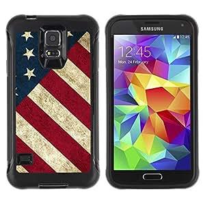 Paccase / Suave TPU GEL Caso Carcasa de Protección Funda para - Stripe Flag American Rustic Patriotic - Samsung Galaxy S5 SM-G900