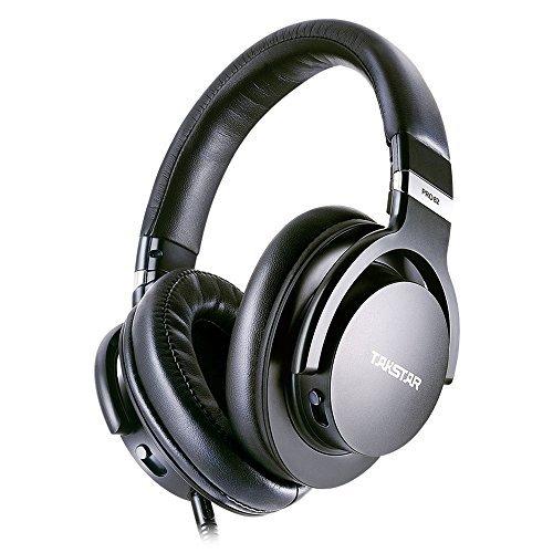 Takstar PRO82 Professional Reference Monitor Headphone Bass Adjustment Dynamic Studio DJ Headset Over Ear(Black)
