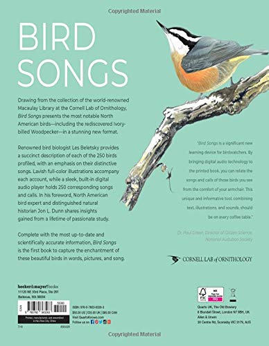 Bird Songs 250 North American Birds In Song Les Beletsky