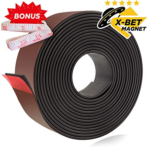 Flexible Magnetic Strip - 1 inch x 10 Feet Magnetic Tape with Strong Self Adhesive - Perfect Magnetic Roll for Photo, DIY and Craft Projects - Sticky Anisotropic Magnets