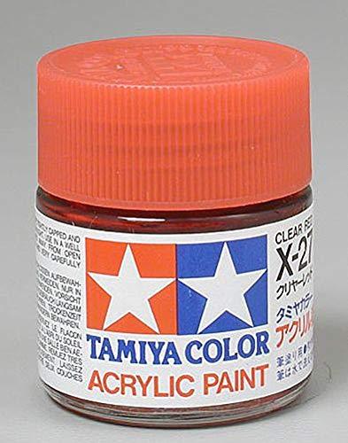 (Tamiya America, Inc Acrylic X27 Gloss, Clear Red, TAM81027)