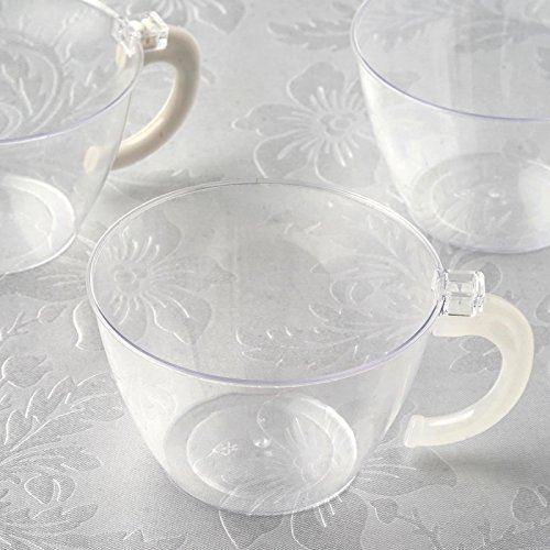 BalsaCircle 36 pcs 6 oz Clear Plastic Drink Cups Glasses - Disposable Wedding Party Catering Tableware