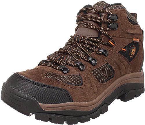 Nevados Men's Klondike MID Waterproof Hiker-M, Earth Brown/Black/Tigerlily Orange, 9 M US