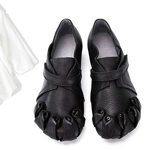 femmes Zpedy la mode porter chaussures rétro automne confortable décontracté à noir pour q6xC61BwE