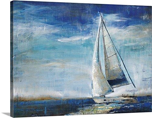ardine Premium Sail Away Canvas Wall Art, 40