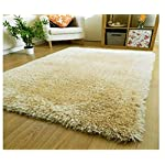 SRHandloom Shaggy Carpet Rug for Living Room and Home with Welcome Door Mat – Cream (2 x 3 Feet)