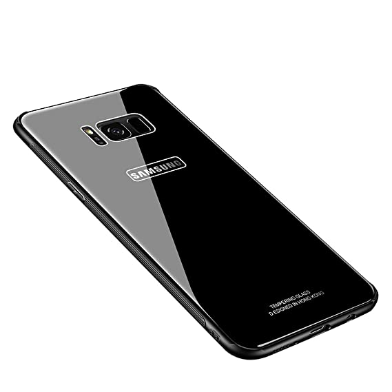 promo code 656bb 9154a MAKAVO Samsung Galaxy S8 Plus Case, Tempered Glass Hard Back Cover Silicone  Soft Bumper Hybrid Anti-Scratch Shockproof Protective Shell for Samsung ...