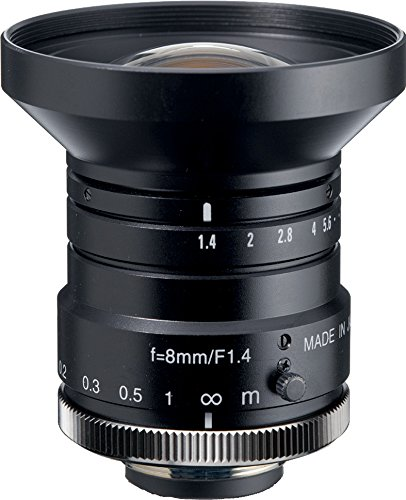 "Kowa LM8HC 1"" 8mm F1.4 Manual Iris C-Mount Lens, 2 Megapixel Rated"