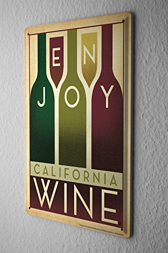 Tin Sign Wall Decoration Enjoy Wine Metal Plate