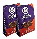 BeON Energy Boost Gems (Energems), Dark Chocolate 133 mg Caffeine & B6 B12 D-Vitamins Per Serving, 96 chocolate gems
