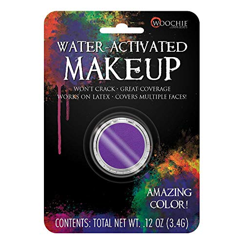 Woochie Water Activated Makeup - Professional Quality Halloween and Costume Makeup - (Purple, 0.1 oz)]()
