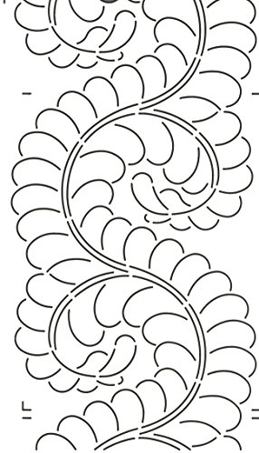 Quilting Creations Feather Border for Use with 422QC Quilt Stencil, 8""