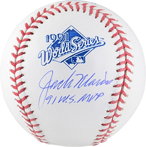 "Jack Morris Minnesota Twins Autographed 1991 World Series Logo Baseball with""91 WS MVP"" Inscription - Fanatics Authentic Certified"