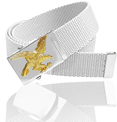 Luna Sosano Canvas Web Belt - Eagle - White - 45